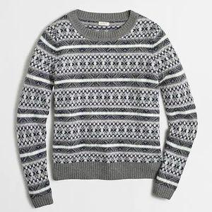 J. Crew   Fair Isle Sweater in Grey